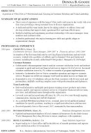 Sample Resume Credit Card Customer Relations Team Leadership