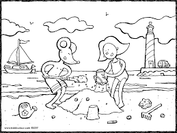 Vakantie Colouring Pages Pagina 2 Van 2 Kiddicolour