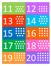 Number Chart For Toddlers Numbers 11 20 A Brightly Colored Chart That Can Help