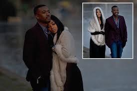 Ray <b>J</b> enjoys a walk around <b>London</b> with his wife Princess <b>Love</b> after ...