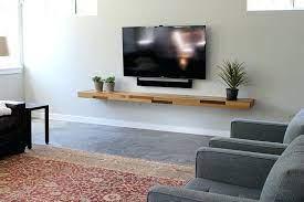 tv wall oak floating shelves