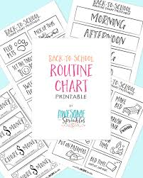 Back To School Printable Routine Chart Awesome With Sprinkles