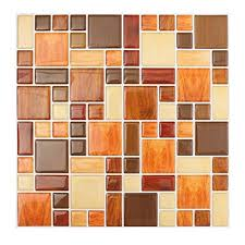 Tile Backsplash Photos Cool Amazon TOOGOOR Waterproof Self Adhesive Mosaic Brick 48D Wall