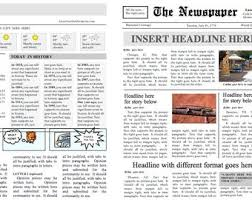 Custom Newspaper Template Etsy Your Place To Buy And Sell All Things Handmade