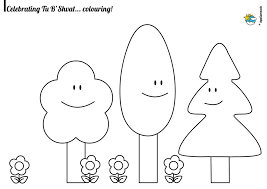 Tu Bshvat Coloring Pages Jewish Traditions For Kids Appsameach