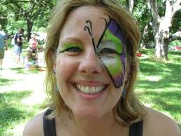 erfly face paint design austin texas