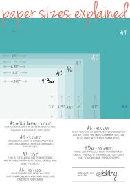 Response Cards Size Paper Size Chart For Crafters Blitsy