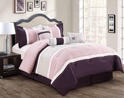 Lavender And Black Bedroom 7 Piece Burgundy Coffee Black Comforter Set