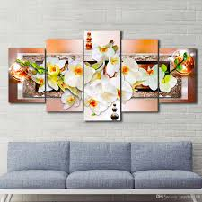2018 unframed brown pearl orchid flower wall art oil painting on canvas textured abstract paintings pictures decor living room decor from angelart168  on orchid flower wall art with 2018 unframed brown pearl orchid flower wall art oil painting on