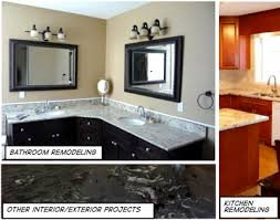 competitive this picture shows a beautiful kitchen with granite countertop an elegant bathroom with granite vanity