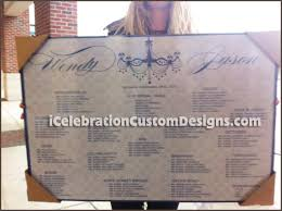 Vintage Wash Chandelier Wedding Chart Icelebration Custom Designs