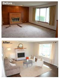 remodel furniture. 1960u0027s living room makeover remodel before and after new hardwood floor window white furniture e