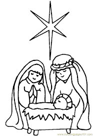 Christmas Religious Coloring Pages Free Printable Star