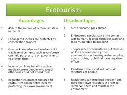 ecotourism advantages and disadvantages essay
