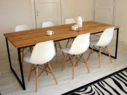 Industrial Dining Table Basic Nio Modern Steel Frame Table Etsy