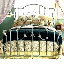 Wrought Iron Bed Frame And Wood King Frames Size Metal Beds Bedstead ...