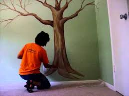 Painting A Tree Mural Cool Do It Yourself Painting A Tree Mural Is Easier  Than You