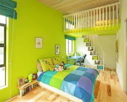 vancouver canada interior bedroom bright green blue colorful