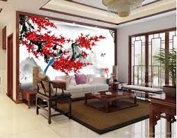 Modern Wallpaper Designs For Living Room Modern Wallpaper For Living Room Chinese Style Plum Blossom Ink
