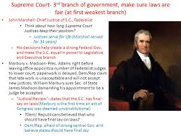 marbury v madison what is the role of the supreme court regarding  2 supreme