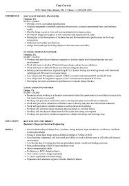 Fpga Design Engineer Resume Logic Design Engineer Resume Samples Velvet Jobs