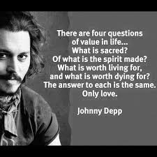 Johnny Depp Love Quotes Classy Only Love Is Worth Dying For On We Heart It