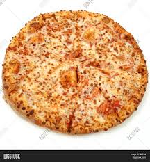 plain cheese pizza. Wonderful Plain Whole Plain Cheese Pizza Isolated Over White On