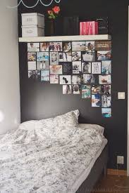 this is a more sophisticated look and also fills the blank wall behind your bed if you need to fill that space i would recommend using glue dots or