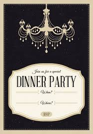 dinner template classy chandelier free printable dinner party invitation
