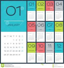 Simple Calendar Template 2015 Calendar 2015 Vector Desing Template Stock Vector