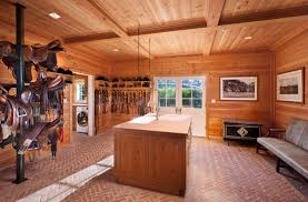 Cool Plaid Comforter In Bedroom Traditional With Wood Ceiling Next Horse Tack Room Design