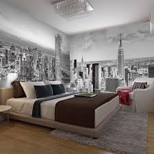 Bacaz Black and white Mural New York city building 5d wall mural for ...