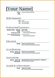 Word Resume Formats Word Resume Formats Formal Resume Template Word