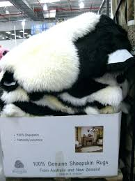 fur rug medium image for chic sheepskin naturally luxurious throughout costco designs 11