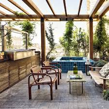 Outdoor Jacuzzi and BBQ // The Apartment at Soho House Istanbul #sohohouse  #istanbul
