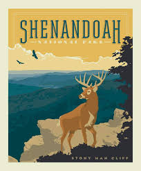 National Parks Posters Anderson Design Group Amazon Com National Parks Poster Panel Shenandoah