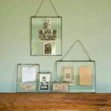glass hanging frame zinc picture frames photo without nails