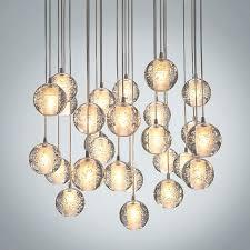 glass ball lighting lights modern clear cast glass ball meteor shower chandelier regarding incredible property crystal glass ball lighting