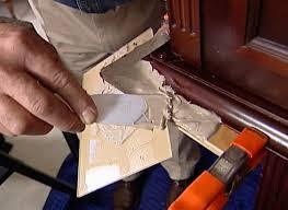 how to repair broken corners and edges