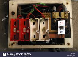 fuse fire stock photos & fuse fire stock images alamy Old Glass Fuse Box old style consumer unit electrical wire fuse box stock image