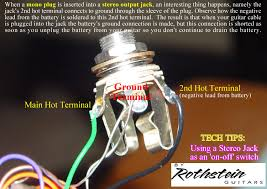 rothstein guitars • serious tone for the serious player how can i wire a stereo output jack as an on off switch
