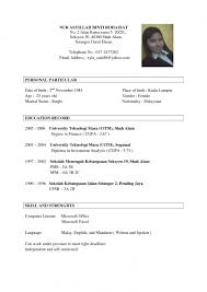 Example Of Resume For Job Malaysia Resumescvweb Sample Resume For Job  Interview .