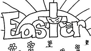 Religious Easter Coloring Pages Preschool Religious Easter Coloring