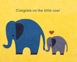 Elephant Congrats Baby Card Zee Bee Market Llc
