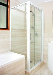 various tri panel sliding shower door sliding shower doors solution three panel small bathroom inspiration ideas