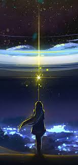 Anime Night Sky Scenery 4K Wallpaper #167