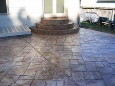 stamped concrete patio with stairs. Unique Patio Stamped Concrete Patio Designs  Concrete Designs Inc Inside Stamped Patio With Stairs N