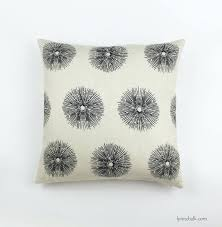sea urchin custom pillows in ivory ebony both sides kelly wearstler outdoor channels shown kelly wearstler