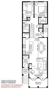 ideas about Narrow House Plans on Pinterest   Small House     storey narrow house plans   Google Search