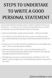 Enjoy Personal Statement Format How To Start A Personal